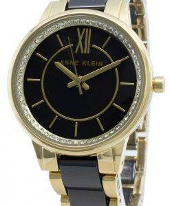 Anne Klein 3344BKGB Diamond Accent Quartz Damenuhr
