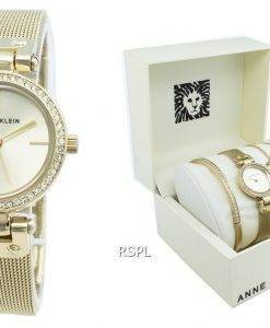 Anne Klein 3424GBST Diamond Accent Quartz Damenuhr
