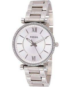 Fossil Carlie ES4341 Diamond Accents Quarz Damenuhr