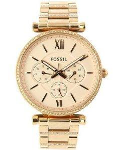 Fossil Carlie ES4542 Diamond Accents Quarz Damenuhr