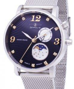Zeppelin Serie Luna Moon Phase Germany Made 7637M-3 7637M3 Damenuhr