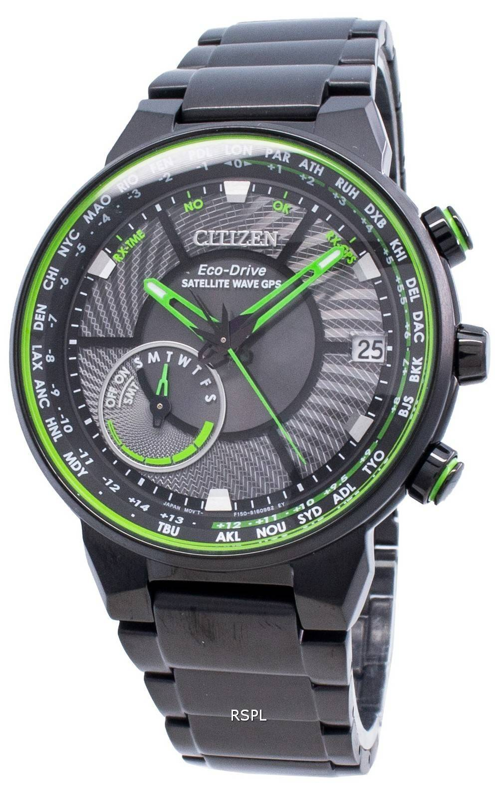 Citizen Eco-Drive Satellitenwellen-GPS CC3075-80E World Time Herrenuhr
