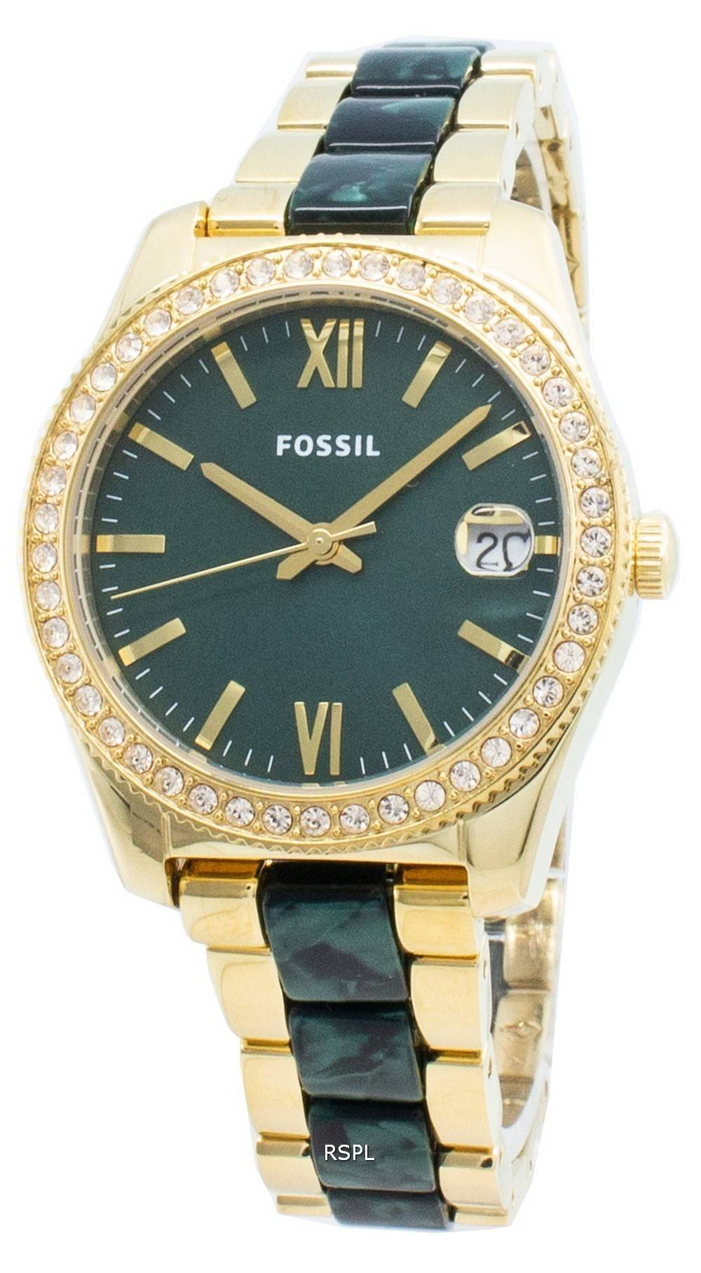 Fossil Scarlette Mini ES4676 Diamant Akzente Quarz Damenuhr