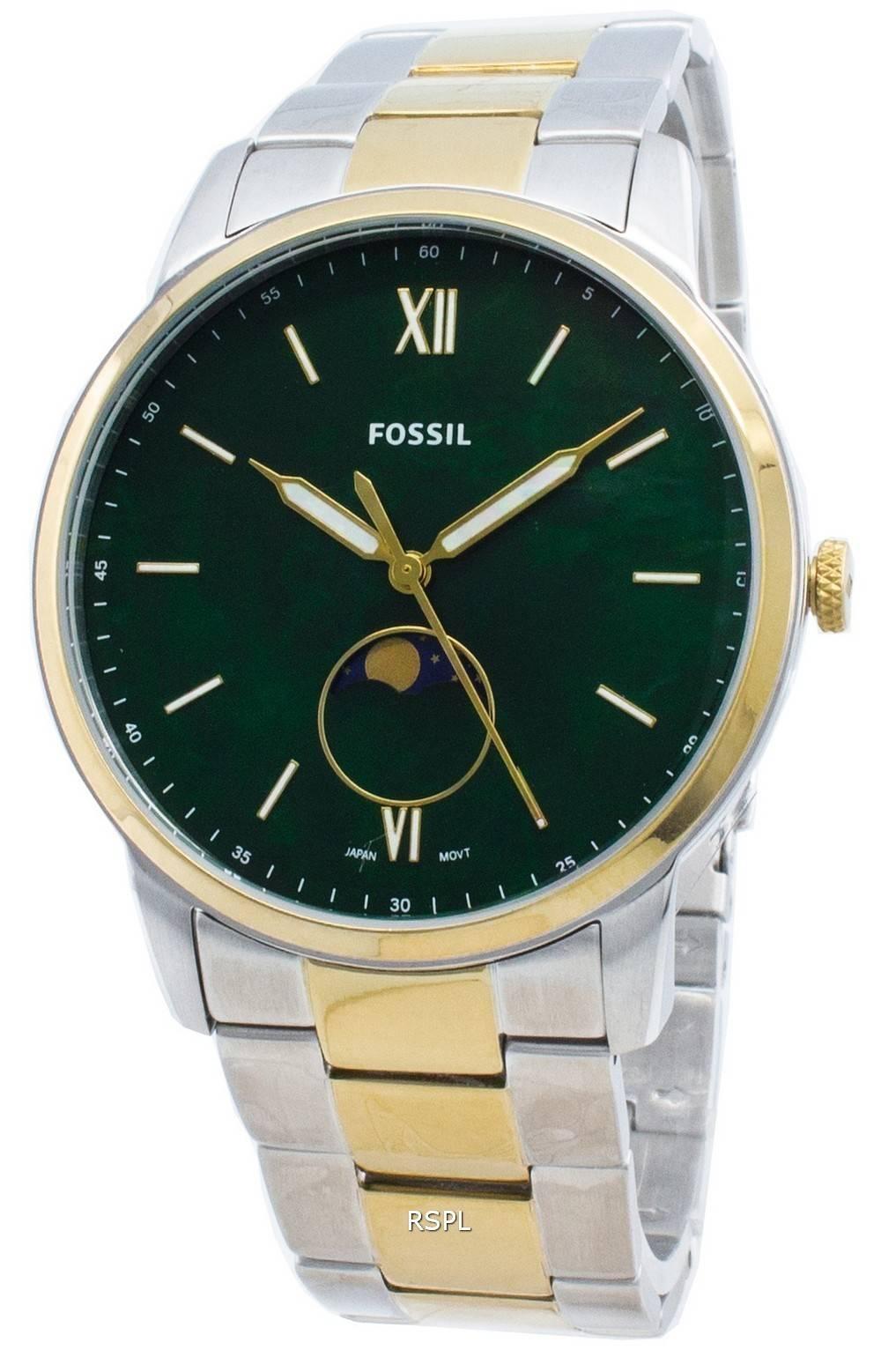Fossil Die minimalistische FS5572 Moon Phase Quartz Herrenuhr