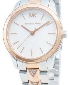 Michael Kors Runway Mercer MK6717 Diamant Akzente Quarz Damenuhr