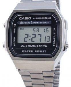 Casio A168WGG-1A Unisex-Uhr mit Elektrolumineszenz