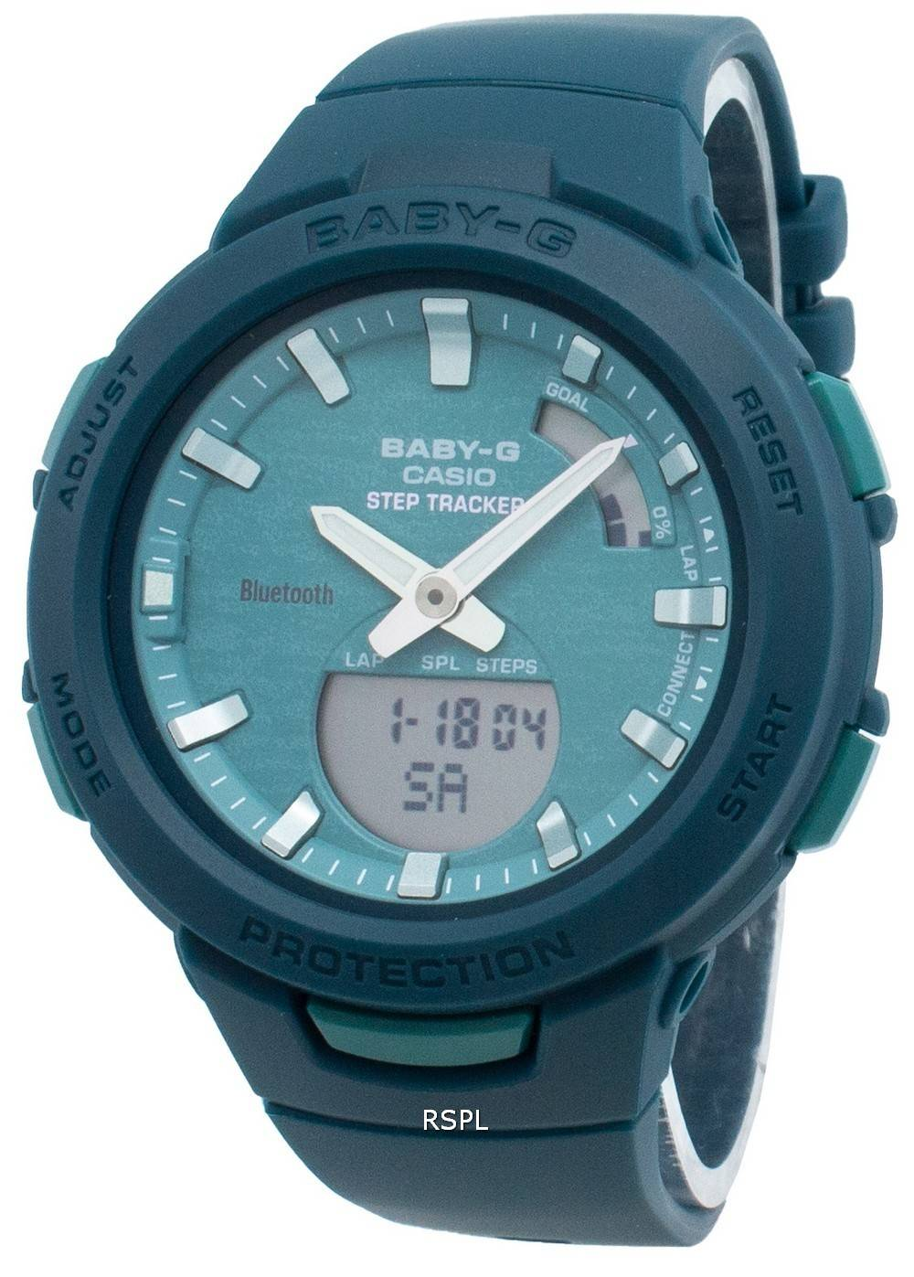 Casio Baby-G Bluetooth BSA-B100AC-3A Schritt Tracker Damenuhr