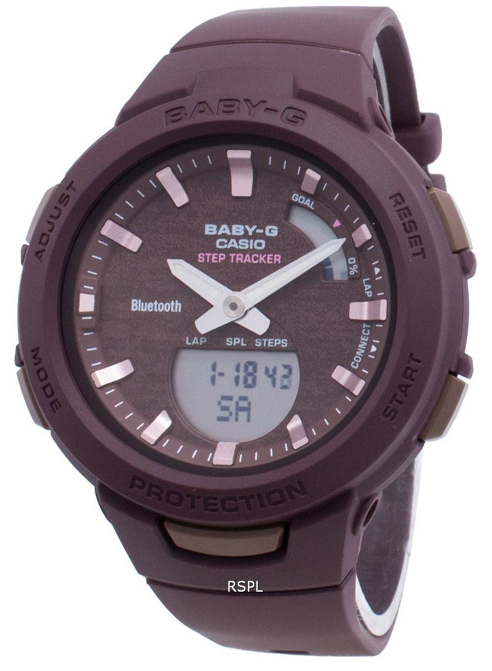 Casio Baby-G Bluetooth BSA-B100AC-5A Schritt Tracker Damenuhr