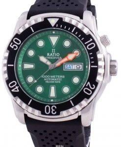 Verhältnis Free Diver Helium-Safe 1000M Saphir Automatik 1068HA90-34VA-GRN Herrenuhr