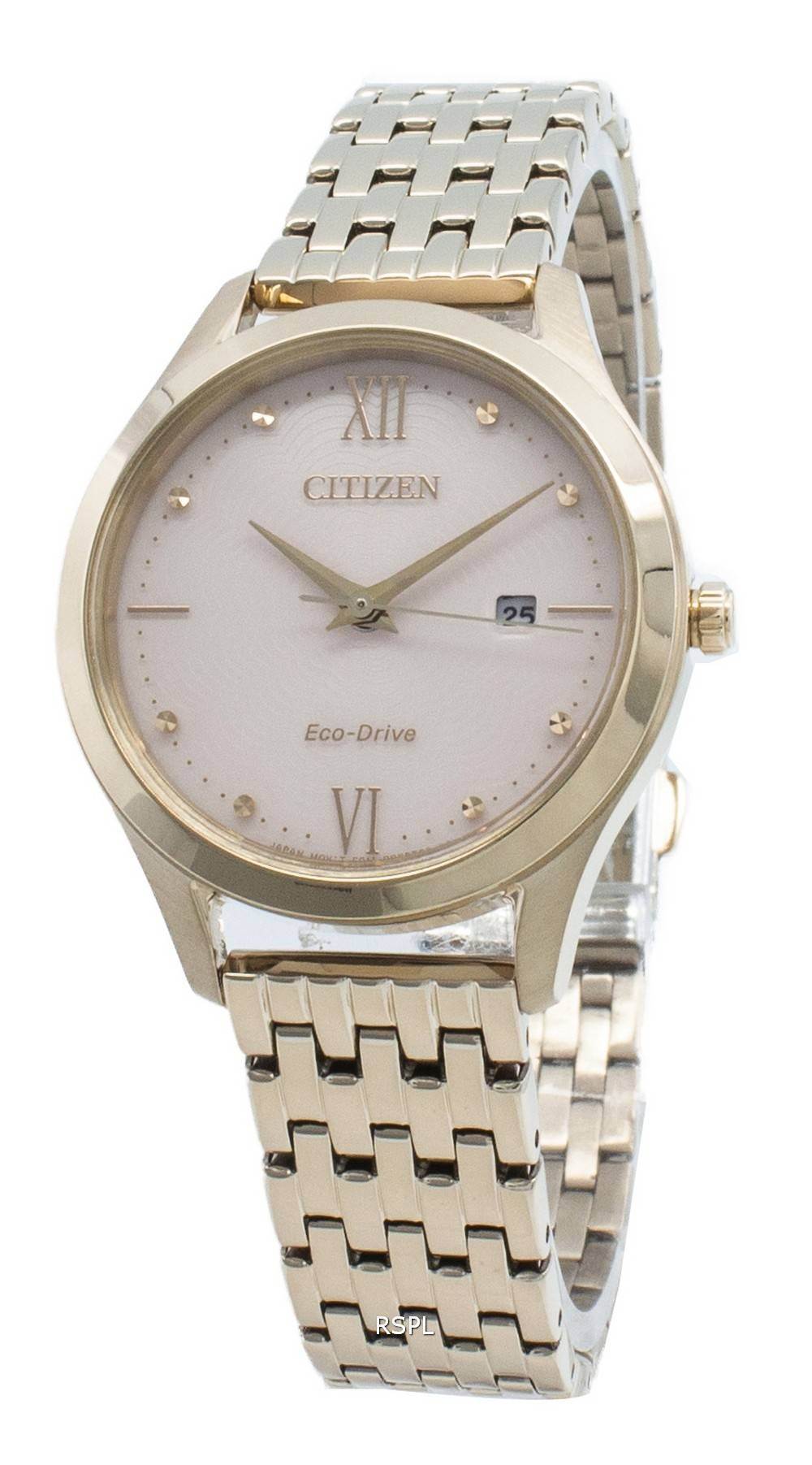 Citizen Eco-Drive EW2533-89X Damenuhr mit Diamantakzenten