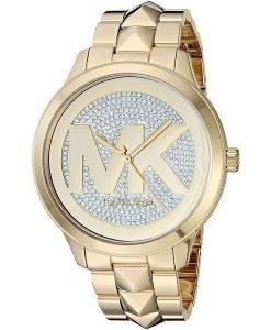 Michael Kors Runway Mercer MK6714 Diamant Akzente Quarz Damenuhr