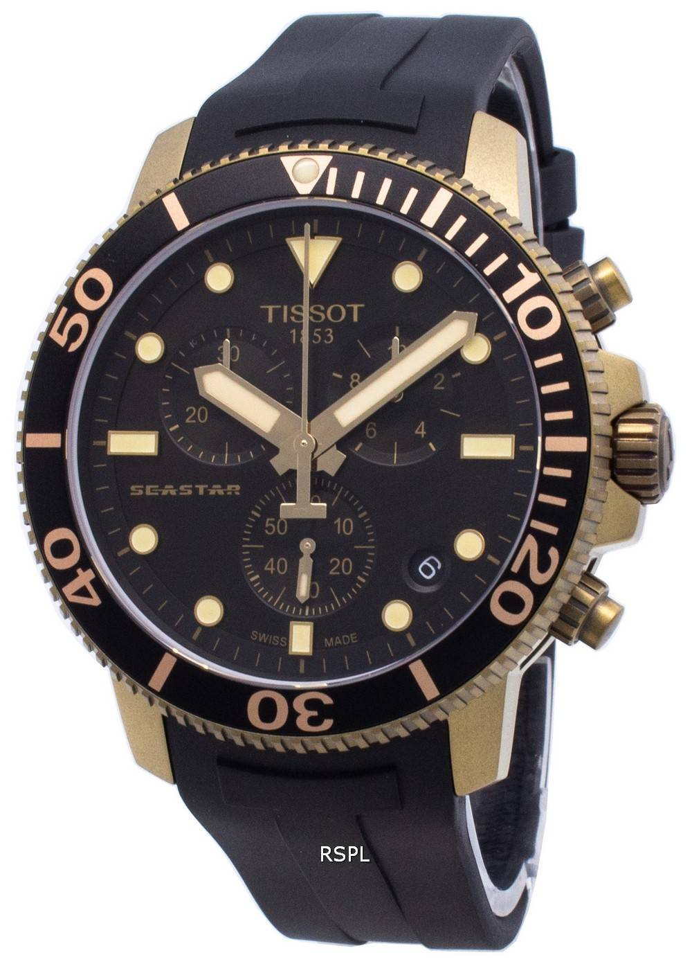 Tissot Diver&#39,s Seastar T120.417.37.051.01 T1204173705101 Chronograph Quarz 300M Herrenuhr