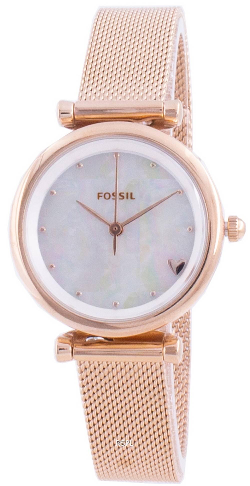 Fossile Carlie Mini ES4505 Quarz Damenuhr