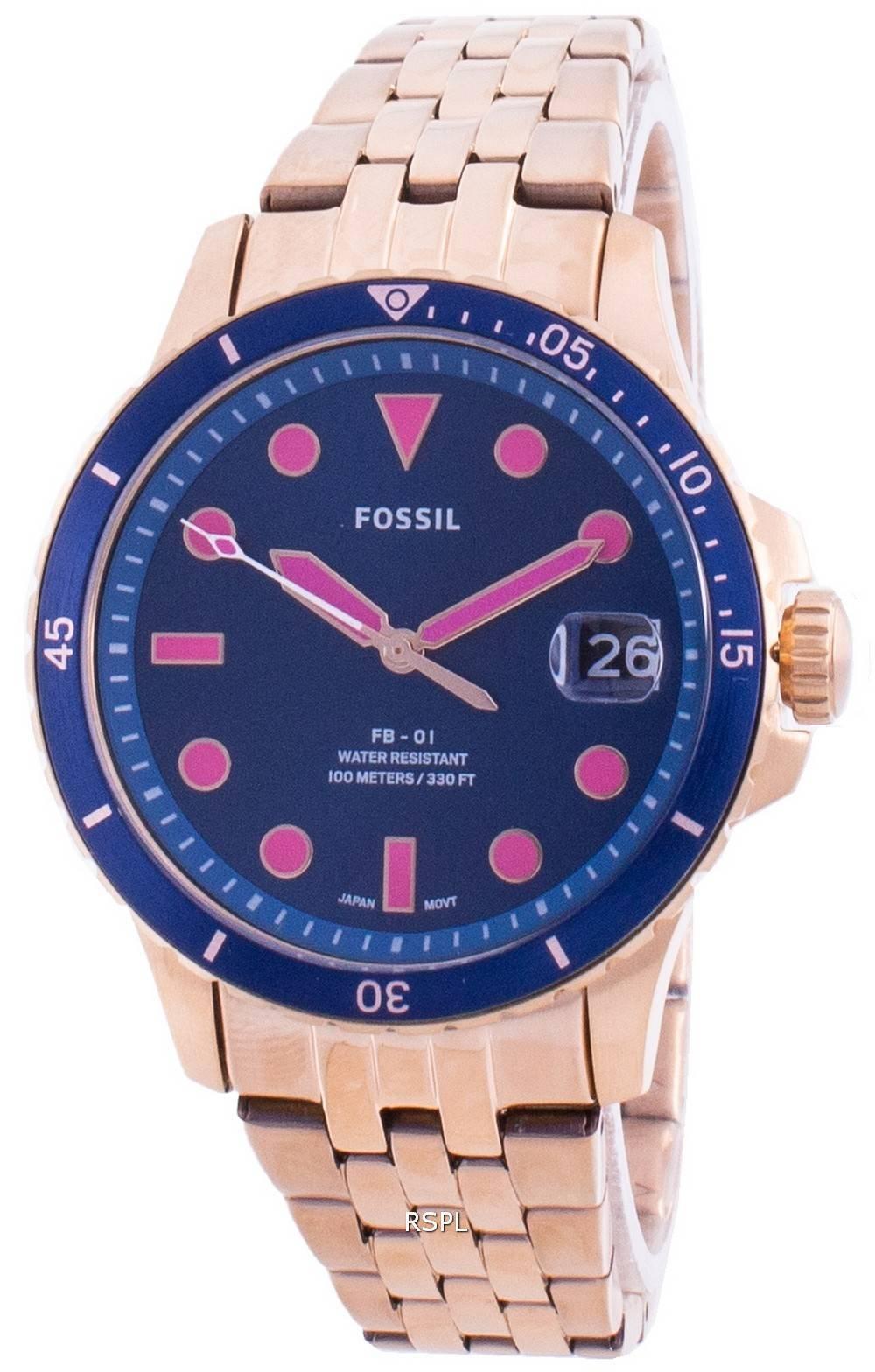 Fossile FB-01 ES4767 Quarz Damenuhr