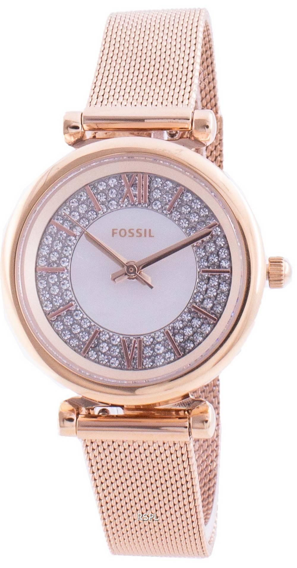 Fossile Carlie Mini ES4836 Quarzdiamant Akzente Damenuhr