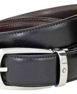 Montblanc 112960 Herren Wendegürtel aus schwarzem / braunem Leder