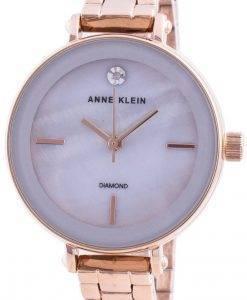 Anne Klein 3386LGRG Quarzdiamant Akzente Damenuhr