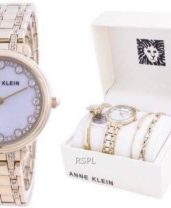 Anne Klein Swarovski Kristall Akzent 3488GPST Quarz Mit Geschenkset Damenuhr