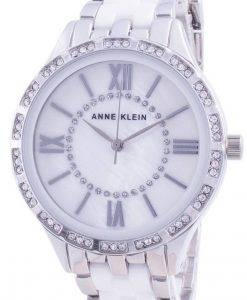 Anne Klein Swarovski Kristall Akzent 3549WTSV Quarz Damenuhr