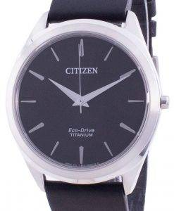 Citizen Black Dial Leather Strap Eco-Drive BJ6520-15E Men's Watch