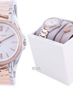 Michael Kors Whitney Diamond Accents Quartz MK1023 With Gift Set Women's Watch