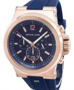Michael Kors Chronograph Dylan Navy Silikon Armband MK8295 Herrenuhr