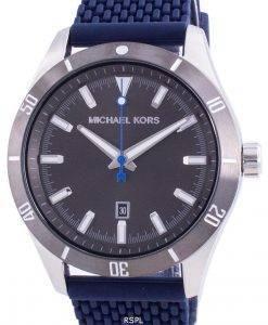 Michael Kors Layton Grey Dial Silicone Strap Quartz MK8818 Men's Watch