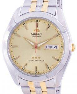 Orient Tri Star Dual Tone Gold Dial Automatic RA-AB0030G19B Men's Watch