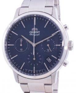 Orient Contemporary Chronograph Blue Dial Quartz RA-KV0301L10B Men's Watch