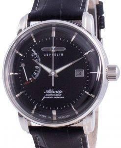 Zeppelin Atlantik Black Dial Leather Strap Automatic 8462-2 84622 Men's Watch
