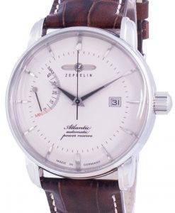 Zeppelin Atlantik White Dial Leather Strap Automatic 8462-5 84625 Men's Watch