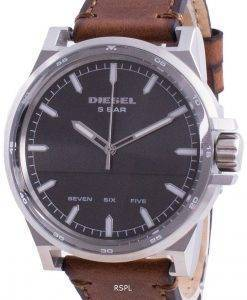 Diesel D-48 Grey Dial Leather Strap Quartz DZ1910 Men's Watch