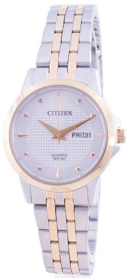 Citizen Silver Dial Stainless Steel Quartz EQ0605-53A Women's Watch