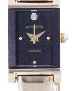 Armitron Black Dial Diamond Akzente Quarz 755322BKGP Damenuhr