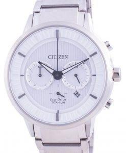 Citizen Super Titanium Eco Drive mit weißem Zifferblatt CA4400-88A 100M Herrenuhr