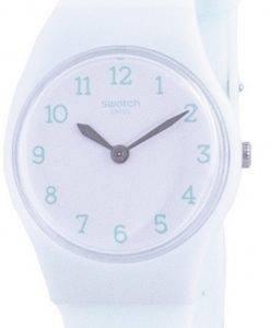 Swatch Greenbelle White Dial Silikonarmband Quarz LG129 Damenuhr
