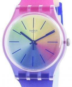 Swatch Multiboost Multicolor Dial Silikonarmband Quarz SUOK143 Herrenuhr