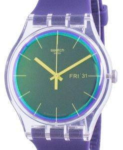 Swatch Polapurple Purple Dial Silikonarmband Quarz SUOK712 Herrenuhr
