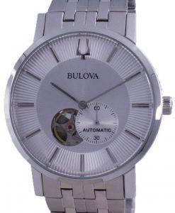 Bulova Clipper Open Heart Dial Automatic 96A238 Mens Watch