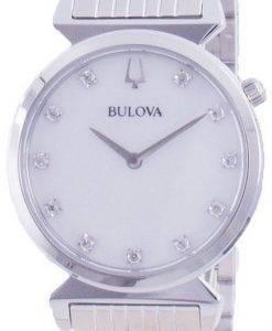 Bulova Classic Diamond Accents Quartz 96P216 Womens Watch