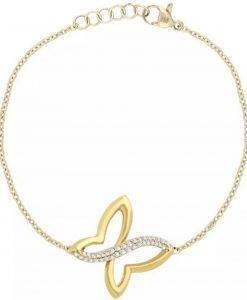 Morellato Battito Rhodium Plated Gold Tone SAHO13 Womens Bracelet