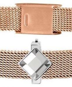 Morellato Sensazioni Rose Gold Tone Stainless Steel Mesh SAJT70 Womens Bracelet