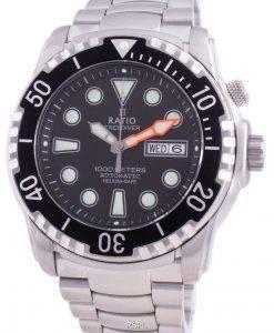 Verhältnis Free Diver Helium-Safe 1000M Saphir Automatik 1068HA96-34VA-BLK Herrenuhr