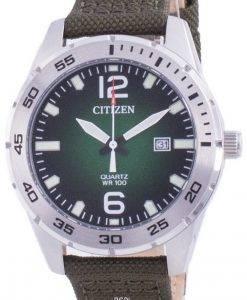 Citizen Green Dial Nylonarmband Quarz BI1041-06X 100M Herrenuhr