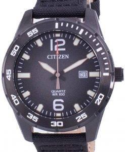 Citizen Black Dial Nylonarmband Quarz BI1045-05E 100M Herrenuhr