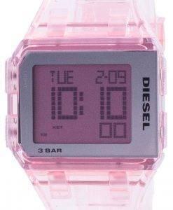 Diesel gehackte Millennial Pink transparente Quarz DZ1920 Unisex Uhr