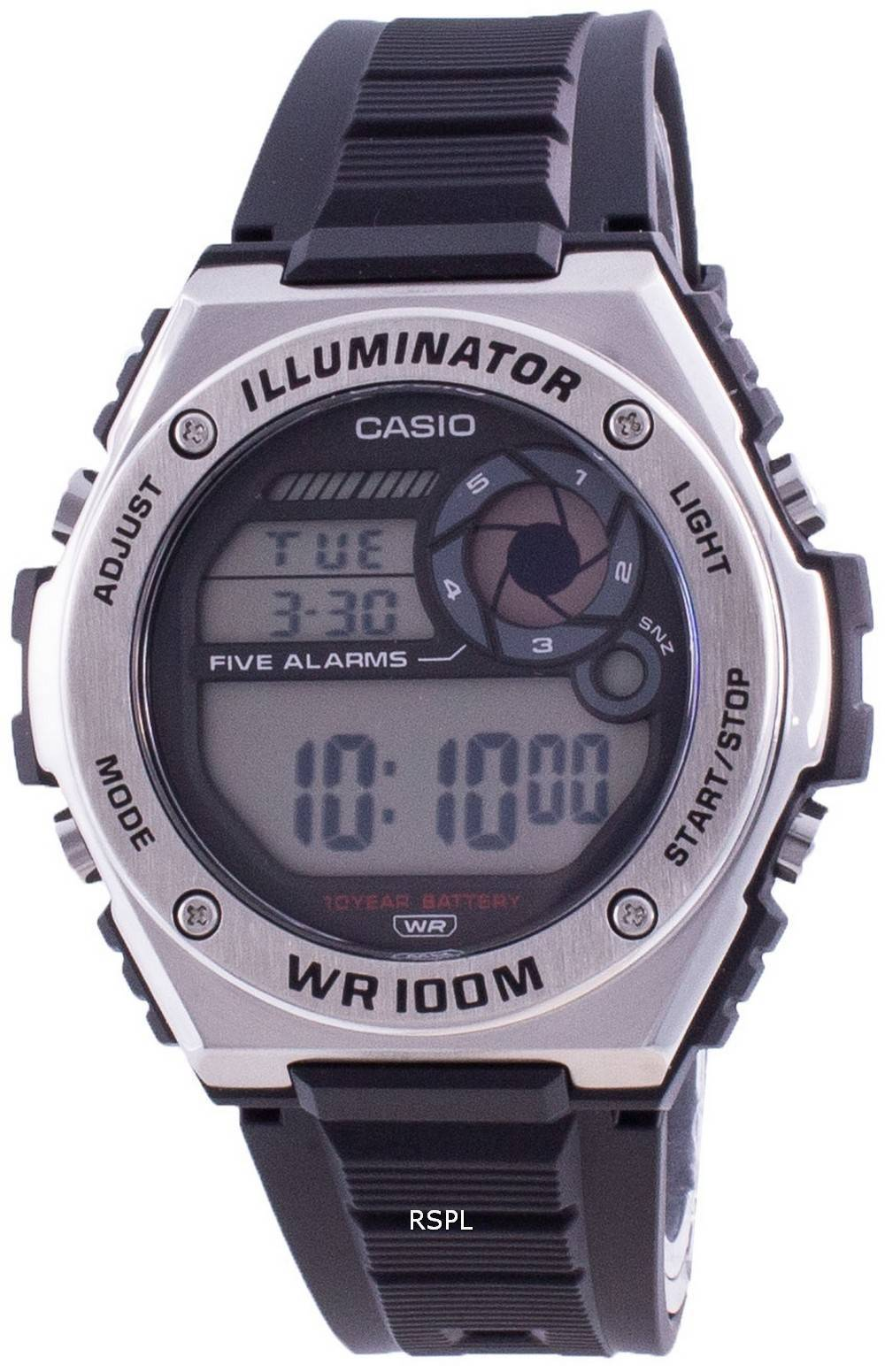 Casio Illuminator Digital MWD-100H-1A MWD100H-1 100M Herrenuhr