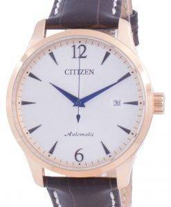 Citizen Silver Dial Kalbslederarmband Mechanisch NJ0113-10A Herrenuhr