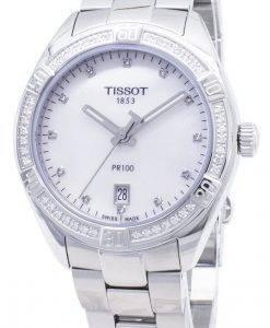 Tissot T-Classic PR 100 Lady Sport T101.910.61.116.00 T1019106111600 Diamant Akzente Quarz Damenuhr