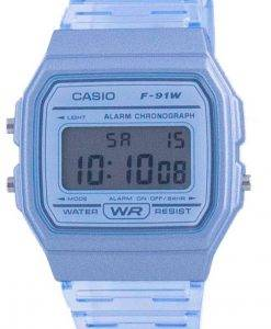 Casio Jugend Blue Resin Digital F-91WS-2 F91WS-2 Unisex Uhr